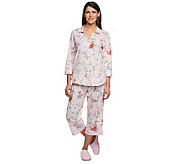 Carole Hochman Roseland Garden Cotton Jersey 2 Piece Pajama Set - A230103
