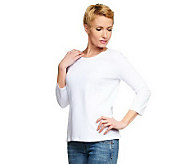 Women with Control 3/4 Sleeve Top with Seam Detail - A231503