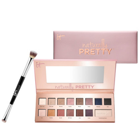 IT Cosmetics Naturally Pretty Matte Luxe Shadow Palette & Brush