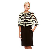 George Simonton Crystal Knit Dress with Zebra Printed Capelet - A251503