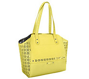 B. Makowsky Tessa Perforated Saffiano Leather Tote - A252303