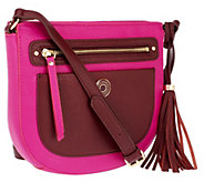 Isaac Mizrahi Live! Bridgehampton Leather Zip Top Crossbody - A256003