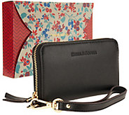 Emma & Sophia Leather Zip Wristlet - A260003