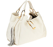 G.I.L.I. Large Pebbled Leather Stirrup Hobo - A261703