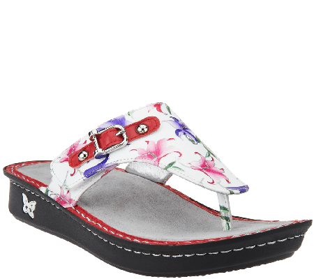 Alegria Thong Sandals w/ Buckle Detail - Vanessa - A264303