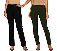 Women with Control Regular Tummy Control Boot Cut and Ankle Pants Set - A266903