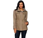 Susan Graver Quilted Jacket with Hi-Low Hem - A268803