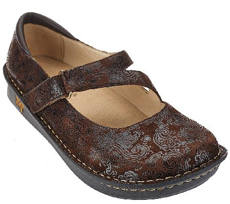 Alegria Leather Mary Janes Wide Width - Jill - A269903