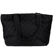Susan Graver Quilted Tote Bag with Zip Closure - A271203