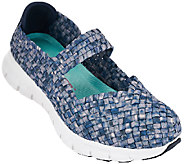 As Is Skechers Woven Mary Janes with Memory Foam - Good Vibes - A272303