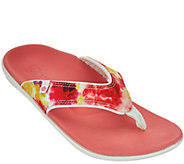 Spenco Orthotic Printed Thong Sandals - Yumi Bouquet - A274703