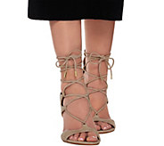 Marc Fisher Suede Lace-up Sandal Pumps - Benete - A275903