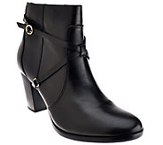 As Is Isaac Mizrahi Live! Ankle Booties with Strap Details - A277703