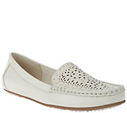 As Is Isaac Mizrahi Live! Perforated Leather Moccasins - A281203