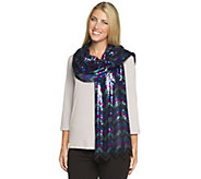 As Is Joan Rivers Chevron Pattern Sequin Scarf - A282703
