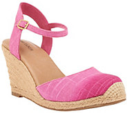 As Is Adam Tucker Ankle Strap Espadrille Wedges - A284403