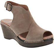 Dansko Leather Wedge Covered Sandals - Vanda - A289103