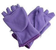 As Is Multi-Mitt 4-Way Stretch Fleece Glove w/ Zip Compartment - A289203