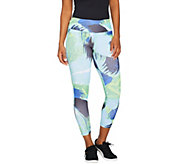 cee bee CHERYL BURKE Brushstroke Print Crop Leggings - A292203