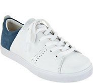 Skechers Perforated Leather Lace-up Sneakers - Clean Street - A295903