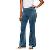 AnyBody Loungewear Velour Flare Pants - A297303