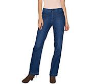 Susan Graver Regular Stretch Denim Straight Leg Jeans - A298503