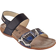 MEPHISTO Leather Double Strap Sandals - Agave - A298803
