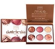 Laura Geller Cheek to Chic Blush, Highlight, & Bronze Palette - A301903