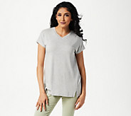 Belle by Kim Gravel Essentials Drop Shoulder V-Neck Top - A303503