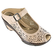White Mountain Perforated Leather Mules - Miso - A336503