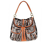 Malini Murjani Eel Print with Nappa Leather Trim Shoulder Bag - A214504