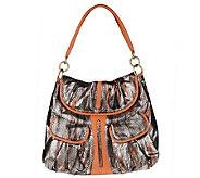 Malini Murjani Eel Print with Nappa Leather Trim Shoulder Bag - A214504