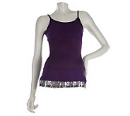LOGO by Lori Goldstein Layering Tank with Sequin Trim - A220104
