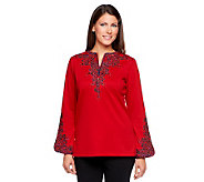 Bob Mackies Embroidered Bombay Tunic - A2304
