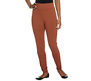 LOGO Layers by Lori Goldstein Petite Knit Slim Leg Ankle Pants - A235504