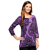 Bob Mackies Placement Print Pullover - A237604