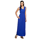 Lisa Rinna Collection Petite Maxi Dress w/ Self Bandeau - A251704