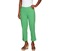 Liz Claiborne New York Petite Pull-On Crop Pants - A253704