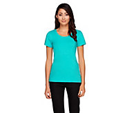 Isaac Mizrahi Live! Scoop Neck Knit T-Shirt - A257404