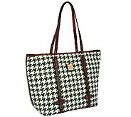 Dooney & Bourke Coated Cotton Houndstooth East/West Shopper - A257704