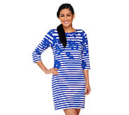 Liz Claiborne New York Regular Printed Stripe Knit Dress - A262104