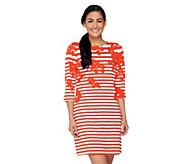 Liz Claiborne New York Regular Printed Stripe Knit Dress - A262104
