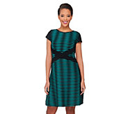 SA by Seth Aaron Petite Striped Knit Dress - A262704