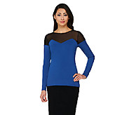 Project Runway by Dmitry Sholokhov Mesh Detail Long Sleeve Top - A264704
