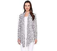 George Simonton Drape Front Sweater Knit Jacquard Cardigan - A265404