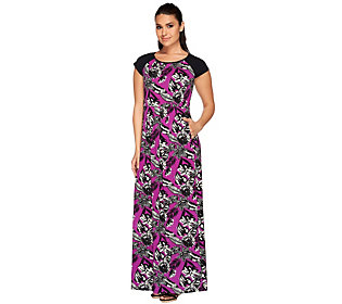 Linea by Louis Dell'Olio Petite Tropical Print Maxi Dress