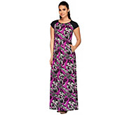 Linea by Louis DellOlio Petite Tropical Print Maxi Dress - A266304