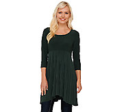 Attitudes by Renee Regular 3/4 Sleeve Pleated Top - A267004