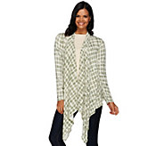 Lisa Rinna Collection Printed Cascade Front Knit Cardigan - A268104