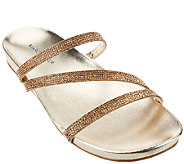 As Is Marc Fisher Triple Strap Rhinestone Sandals- Kalifa - A271504